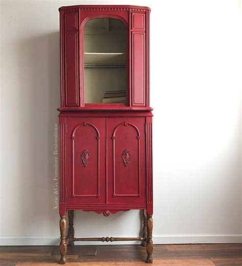 Cute Cabinet in Custom Color Holiday Red & Linen   General
