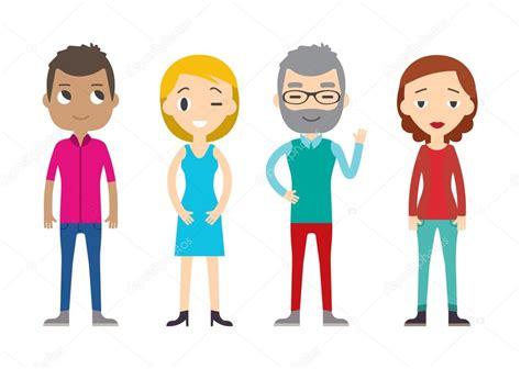 imagenes vectoriales personas conjunto de personas de diversos vectores hombres y
