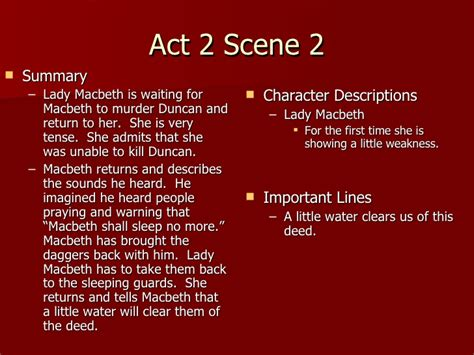 Themes In Macbeth Act 2 | macbeth act 2 notes teacher