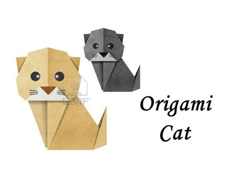 How To Make Origami Cat - how to make an origami cat
