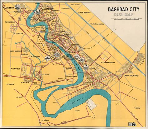 map of baghdad iraq baghdad 1961 map mappery