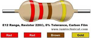 220 ohm resistor color code 220ω resistor color code iamtechnical