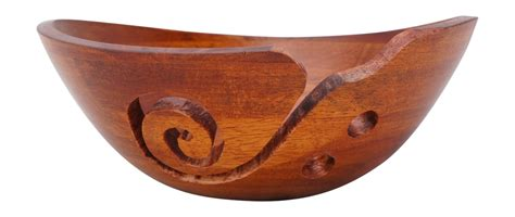 Handcrafted Wood Bowls - handcrafted wooden yarn bowl for knitting and crochet