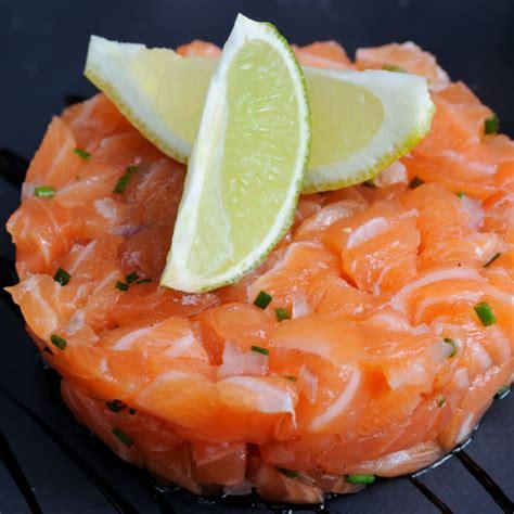 recette verrine de tartare aux deux saumons