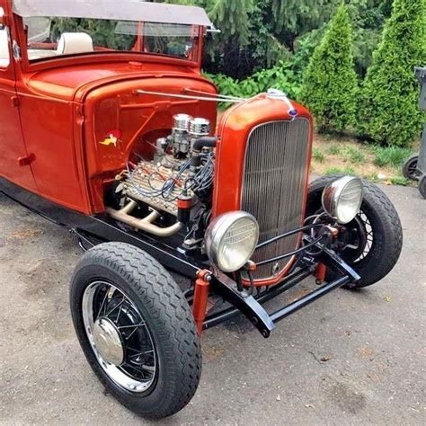 Vintage 1930 Model A Ford vintage 1930 ford model a sport coupe rod chopped