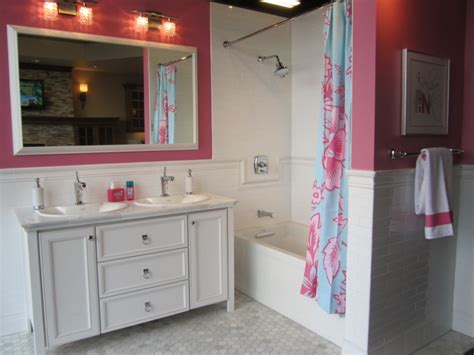 bathroom pic of girl pink girl s bathroom contemporary bathroom