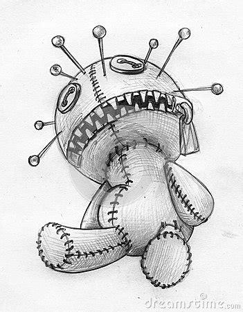 Voodoo Doll Pencil Sketch Stock Illustration - Image: 49134989