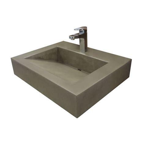 restaurant bathroom sinks trueform 24 quot ada floating concrete bathroom sink is