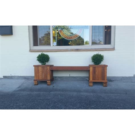 Planter Box Bench by Cedar Bench And Planter Boxes Enhance Your Patio In A Day
