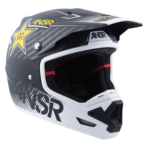 motocross racing helmets answer racing evolve 3 rockstar mens motocross helmets