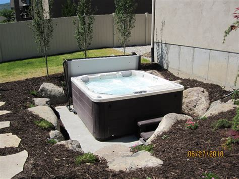 Backyard Landscaping With Fire Pit - in the ground tub chris jensen landscaping in salt lake city and utah county