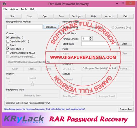 Krylack Password Recovery Crack The Best Free Software | krylack rar password recovery 3 53 65 full crack