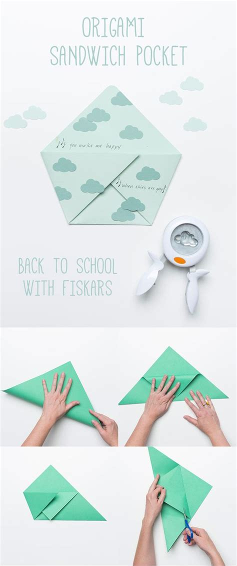 Origami With Pocket - back to school origami sandwich pocket back to school