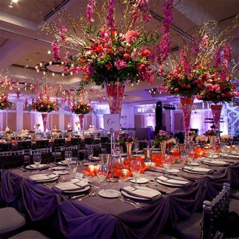 orange and purple reception decor wedding ideas pinterest