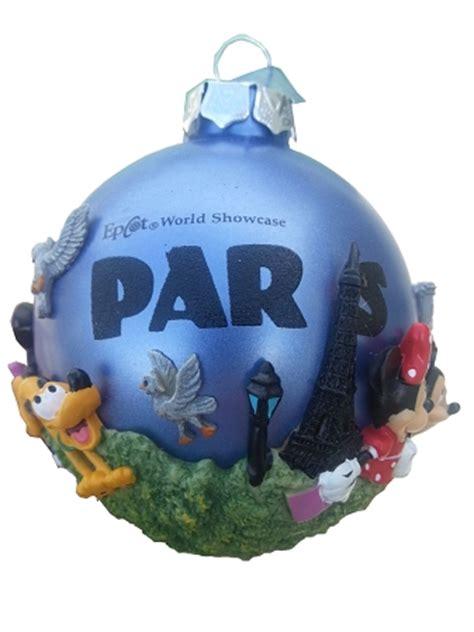disney christmas ornament epcot world showcase paris