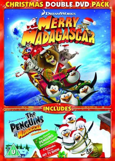 merry madagascar  penguins  madagascar christmas double pack dvd zavvi uk