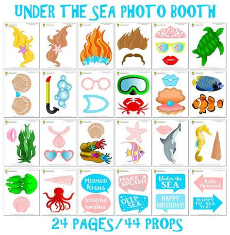 free printable under the sea photo booth props 17 best images about photo booth props on pinterest