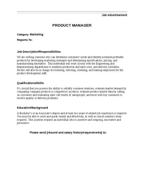 product manager job description hashdoc