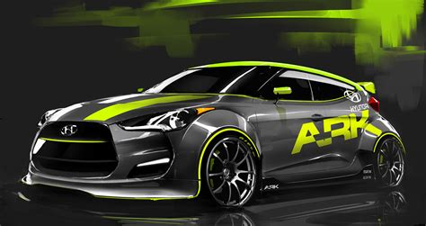 ark hyundai veloster turbo to appear at sema