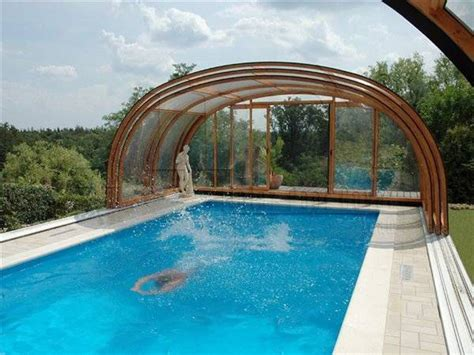 covered swimming pool 1000 ideas about pool covers on pinterest container