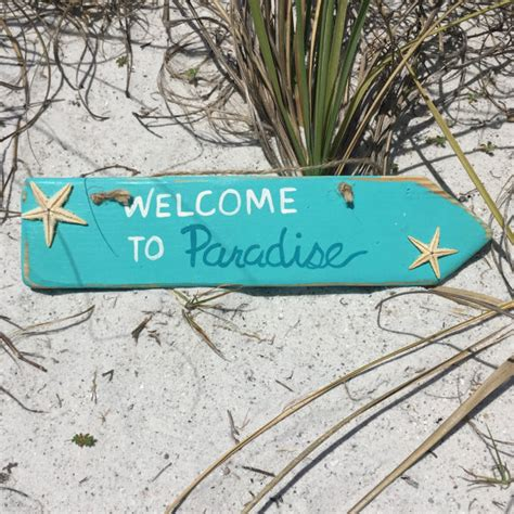 beach signs home decor beach welcome sign wooden arrow beach signs beach home decor