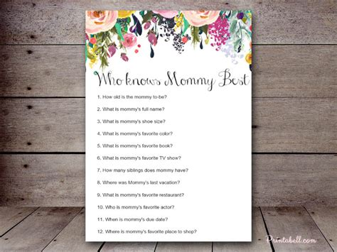 Knows Best Baby Shower by Who Knows Best Printabell Create