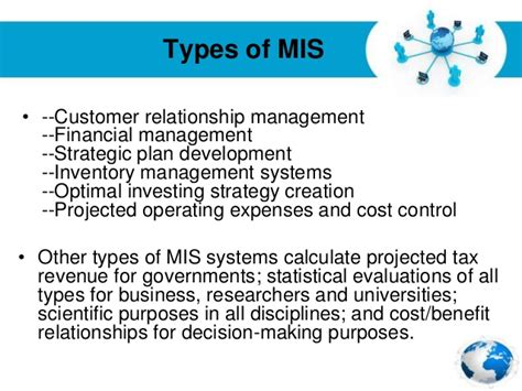 Benefit Of Change Mba To Ms In Mis by Management Information System