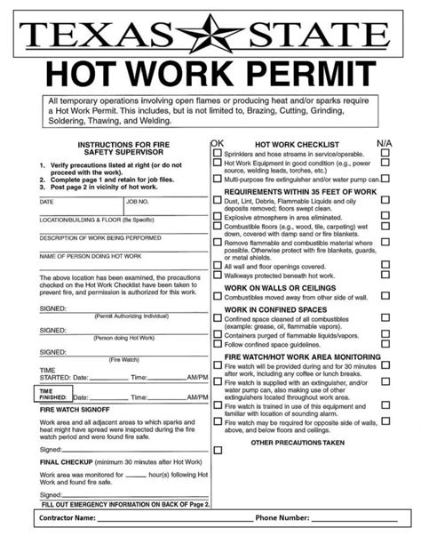 work permit template work permit template