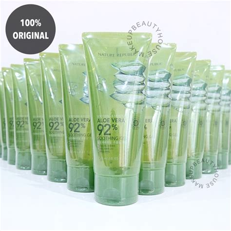Nature Republic Aloe Vera Soothing Gel Hair Treatment soothing moisture aloe vera 92 soothing gel