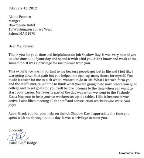 Follow Up Letter After Career Fair Sle Thank You Letter After Career Fair 70 Images