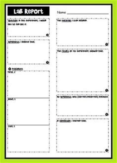 science lab report template for middle school 1000 images about templates worksheets on