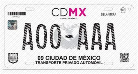 finanzas cdmx 2016 as 237 ser 225 n las nuevas placas de la cdmx el poniente