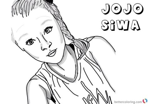 coloring pages jojo siwa jojo siwa colouring pages dance free printable sketch