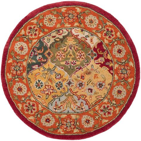 rug 3 x 6 safavieh heritage multi 3 ft 6 in x 3 ft 6 in area rug hg510b 4r the home depot