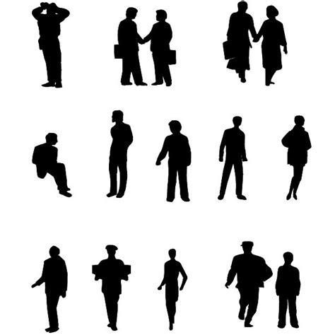 silhouette persone sedute vector silhouettes ai free vector 365psd