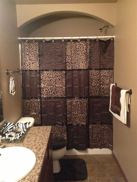 bathroom brown  cheetah decor love