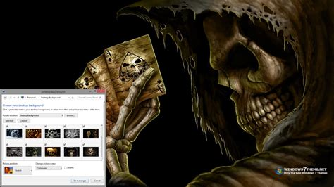 horror themes for windows 8 1 scary dark skulls windows 7 theme download