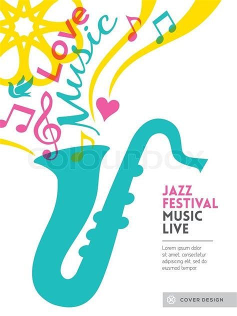 layout poster free vector jazz music festival graphic design background template