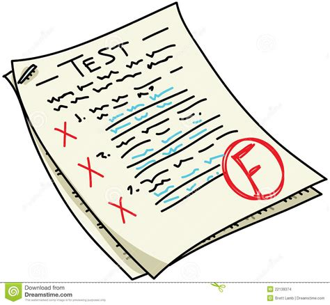 Drawing Quiz by Test Stock Illustration Illustration Of Writing