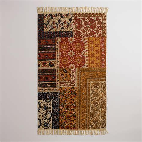 kalamkari rug 3 x5 kalamkari patchwork rug world market