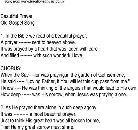 beautiful song beautiful prayer christian gospel song lyrics and chords