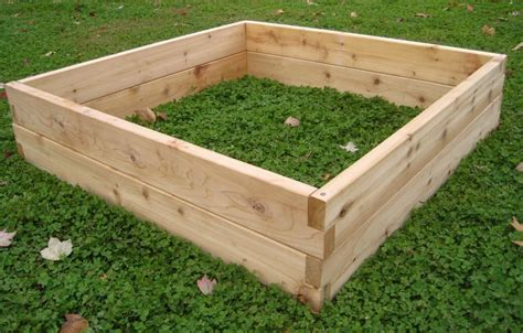 raised cedar garden bed custom cedar raised garden beds by sunnyside projects