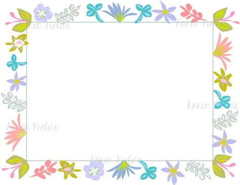 appreciation letter borders stationary with borders 68