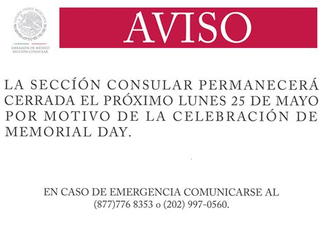 Calendario Consulado Mexicano Sobre Ruedas 2015 Bienvenidos A La Secci 243 N Consular