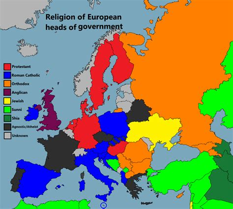 religion map europe religion of european heads of government more