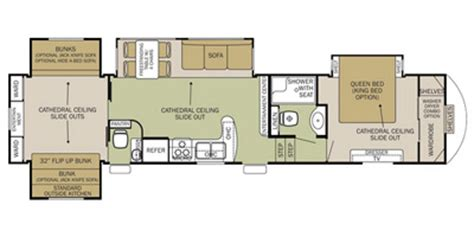 silverback 5th wheel floor plans 2015 cedar creek silverback fifth wheel series m 35qb4