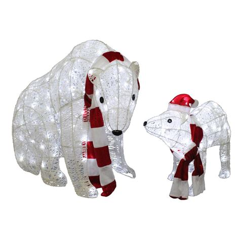 holiday living 2 piece twinkling polar bear outdoor