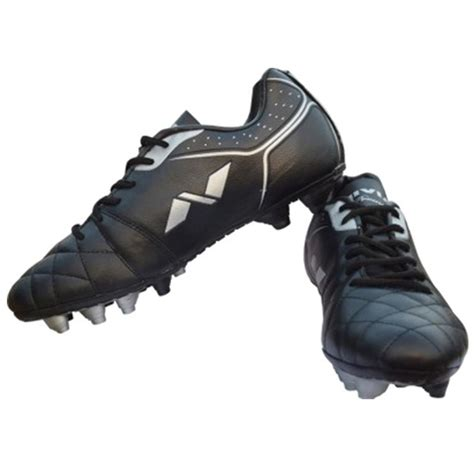 black football shoes nivia premier range football shoes black buy nivia