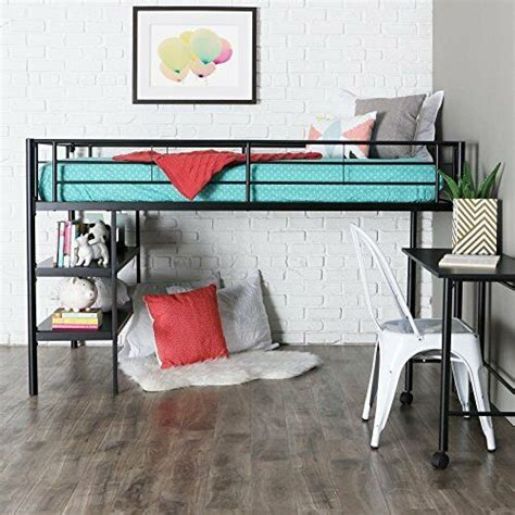 Loft Bed With Desk And Chair by We Furniture Loft Bed With Desk And Shelves Black Ebay