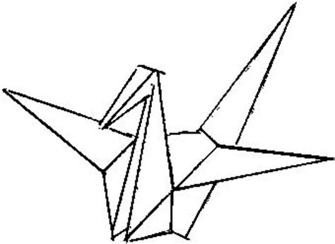 Origami Crane Drawing - paper crane ink me